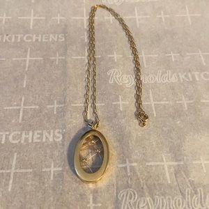 Faux gold necklace
